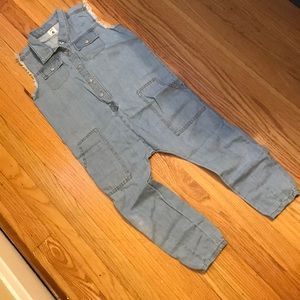 Girl's overall, light jean, sz 6, by stem